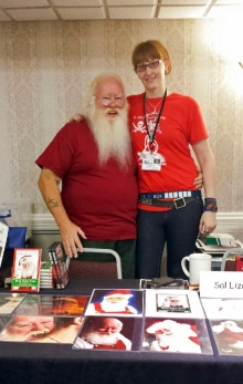 With Sal Izzard, Vampire Santa