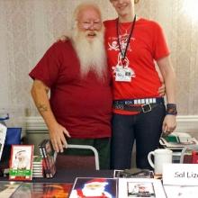 With Sal Izzard, Vampire Santa