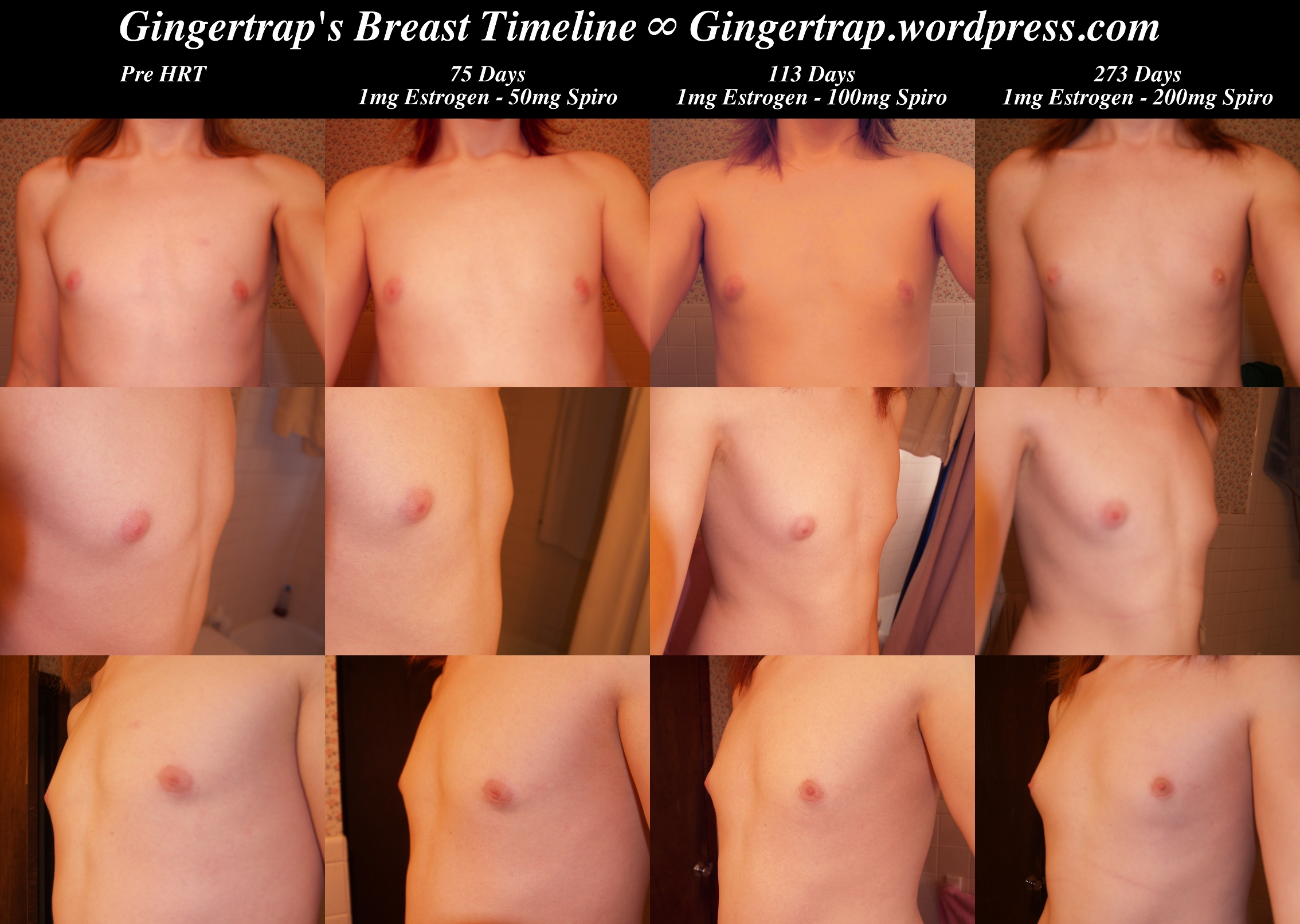 lapse breast time female Nude development